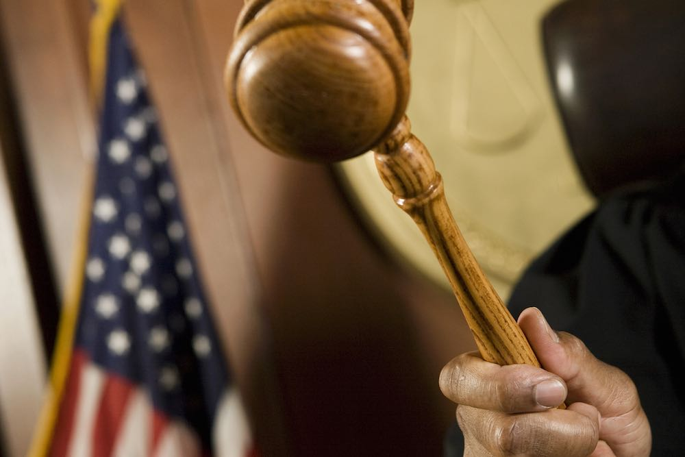 Judge's Gavel at the ready in a domestic violence case